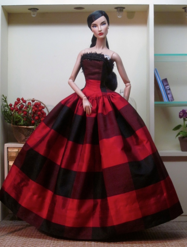 Buffalo Plaid Silk Ball Gown | bellissimacouturefashions